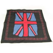 Black Painted  Union Jack Flag Bandana (UK)