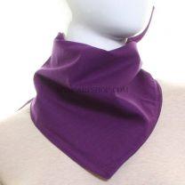 Purple Plain Cotton Bandana