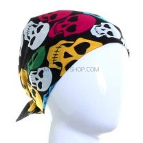 Multicolour Skulls Cotton Bandana