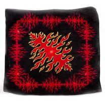 Black Flames Pattern Bandana