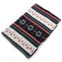 Nordic Winter Snood Scarf - Black & Red