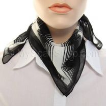 Black Stripes Chiffon Square Scarf