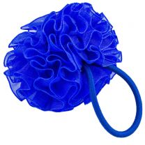 Blue Hairband Ruffle Scrunchy