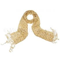 Beige Lattice Neck Scarf
