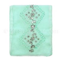 Mint Embellished Georgette Neck Scarf
