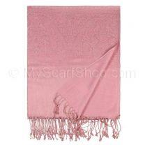 Pink Paisley Jacquard Pashmina