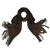 Brown Plain Knitted Scarf