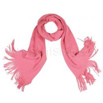 Pink Plain Knitted Scarf