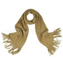 Beige Plain Knitted Scarf