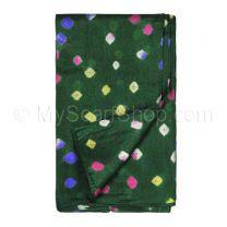 Green Silk Tie Dye Scarf