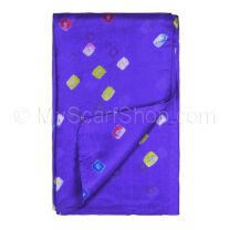 Purple Silk Tie Dye Scarf