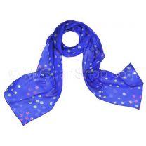 Blue Silk Tie Dye Scarf