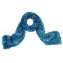 Teal Furry Winter Scarf