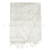 Magnolia Sheer Silk Cross Stripes Shawl