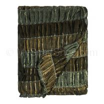 Brown Shimmer Lurex Stripes Scarf