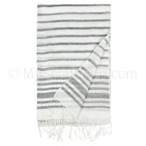 Black & White Stripes Summer Pashmina