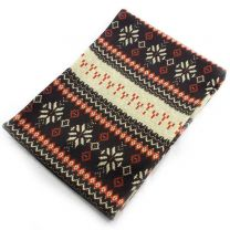 Nordic Winter Snood Scarf - Brown & Red