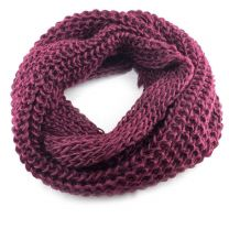 Burgundy Chunky Knitted Snood