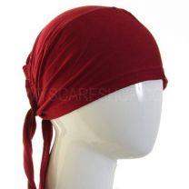 Burgundy Al Amira Tie Back Hijab Bonnet