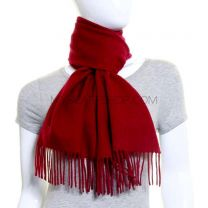 Burgundy Lambswool Scarf