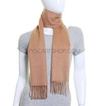 Camel Lambswool Scarf