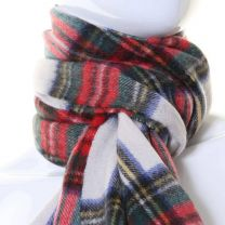 Cashmere Scarf in Dress Stewart Tartan