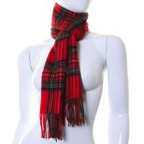 Cashmere Scarf in Red Royal Stewart Tartan