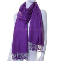 Purple Luxurious Cashmere Pashmina