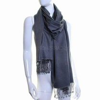 Dark Grey Luxurious Cashmere Pashmina
