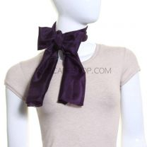 Dark Purple Silk Scarf