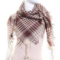 Chocolate & Cream Arab Scarf (Shemagh)