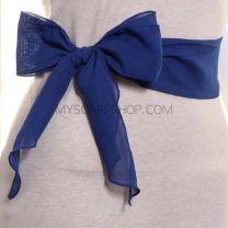 3 in 1 Chiffon Sash Scarf (Royal Blue)