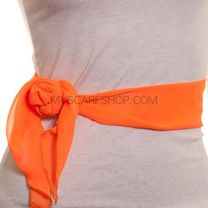 3 in 1 Chiffon Sash Scarf (Orange)