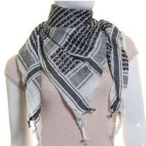 Black and White Cotton Arab Scarf