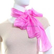 Pink Long  Silk Neck Scarf