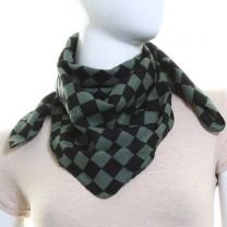 Green Checkered Cotton Bandana