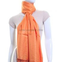 Orange Plain Pashmina