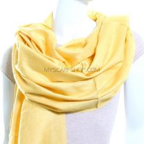 Light Mustard Plain Pashmina