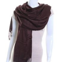 Dark Brown Plain Pashmina