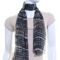 Teal Chiffon Scarf (Abstract Dots)