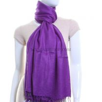 Purple Plain Pashmina