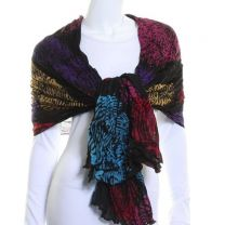 Fingerprint Over Sized Scarf (Black)