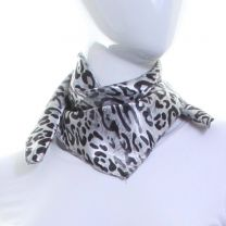Animal Leopard Print  Square Satin Scarf