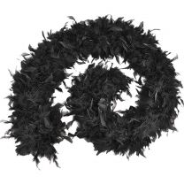 Black Feather Boa - High Quality
