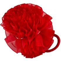 Red Hairband Ruffle Scrunchy