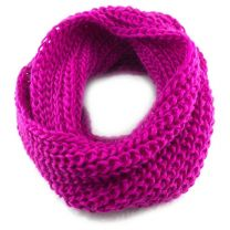 Fuchsia Chunky Knitted Snood