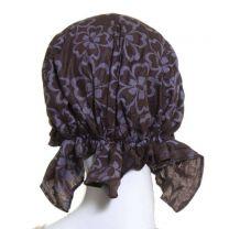 Brown Large Floral Headwrap