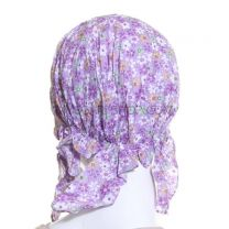 Lilac Floral Cotton Headwrap