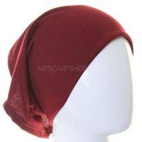 Burgundy Al Amira Tube Hijab Bonnet