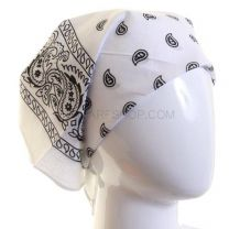 White Paisley Cotton Bandana